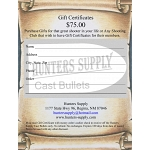 $ 75.00 Gift Certificate